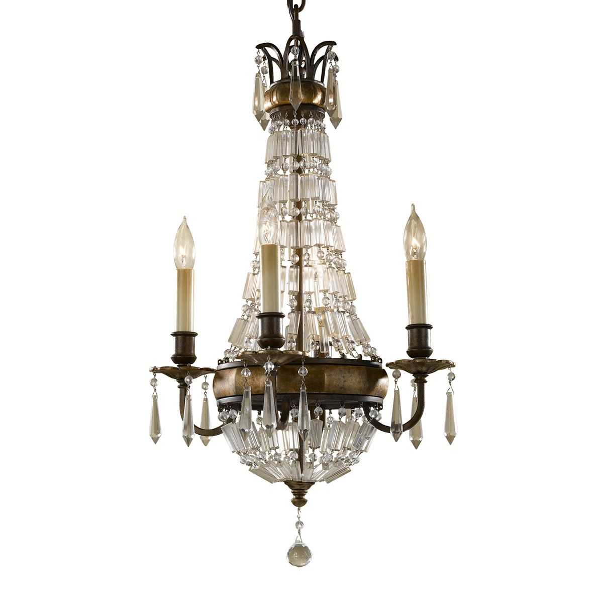 Bellini 4 Light Chandelier In A Bronze Finish With Antique