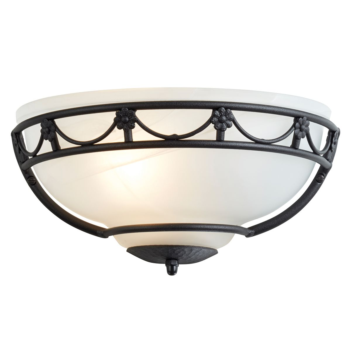 Carisbrooke Gothic Style Wall Light Uplighter in a Black Finish - ELSTEAD CB WU BK
