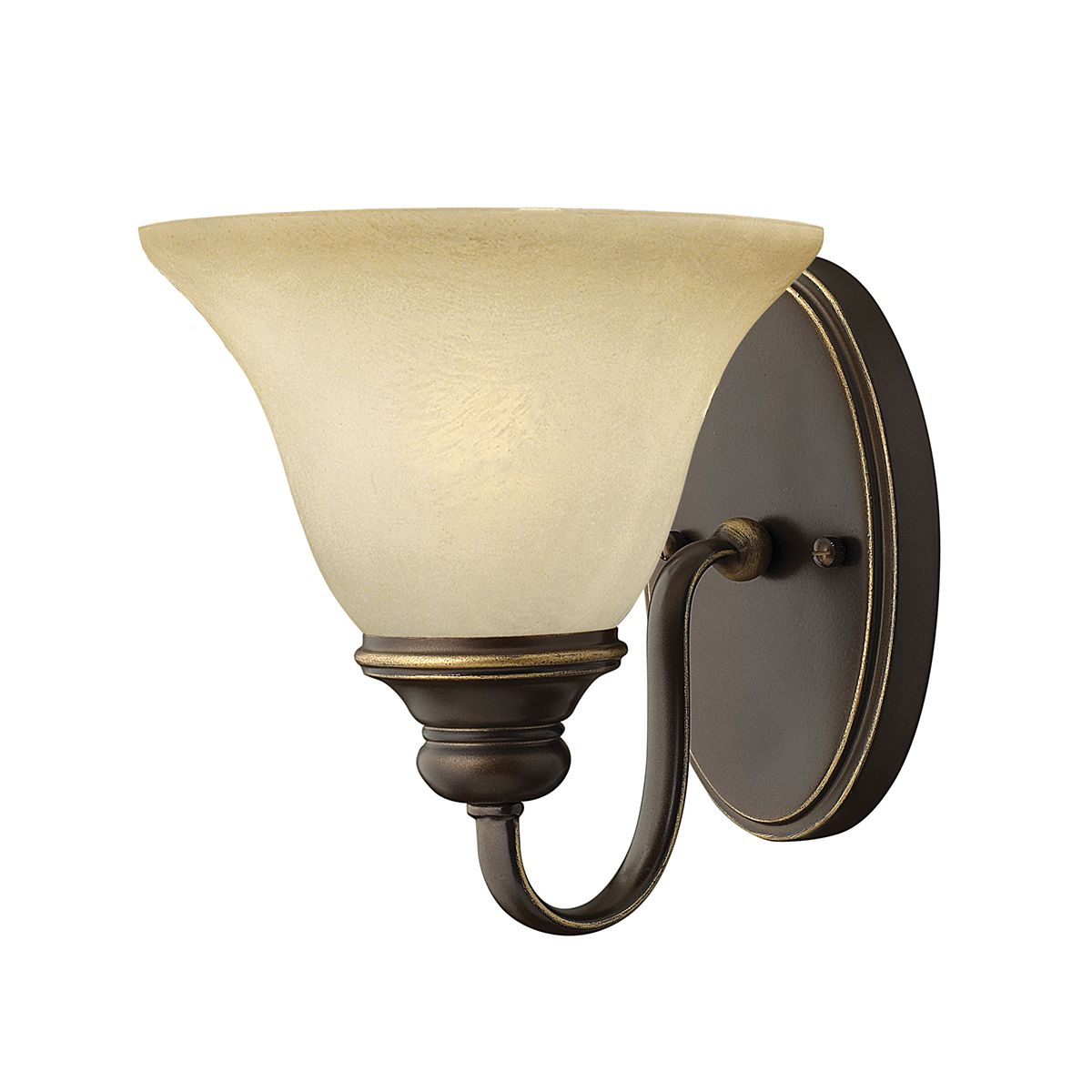 Cello Single Wall Light in Antique Bronze with Vintage Alabaster Glass - HINKLEY HK CELLO1