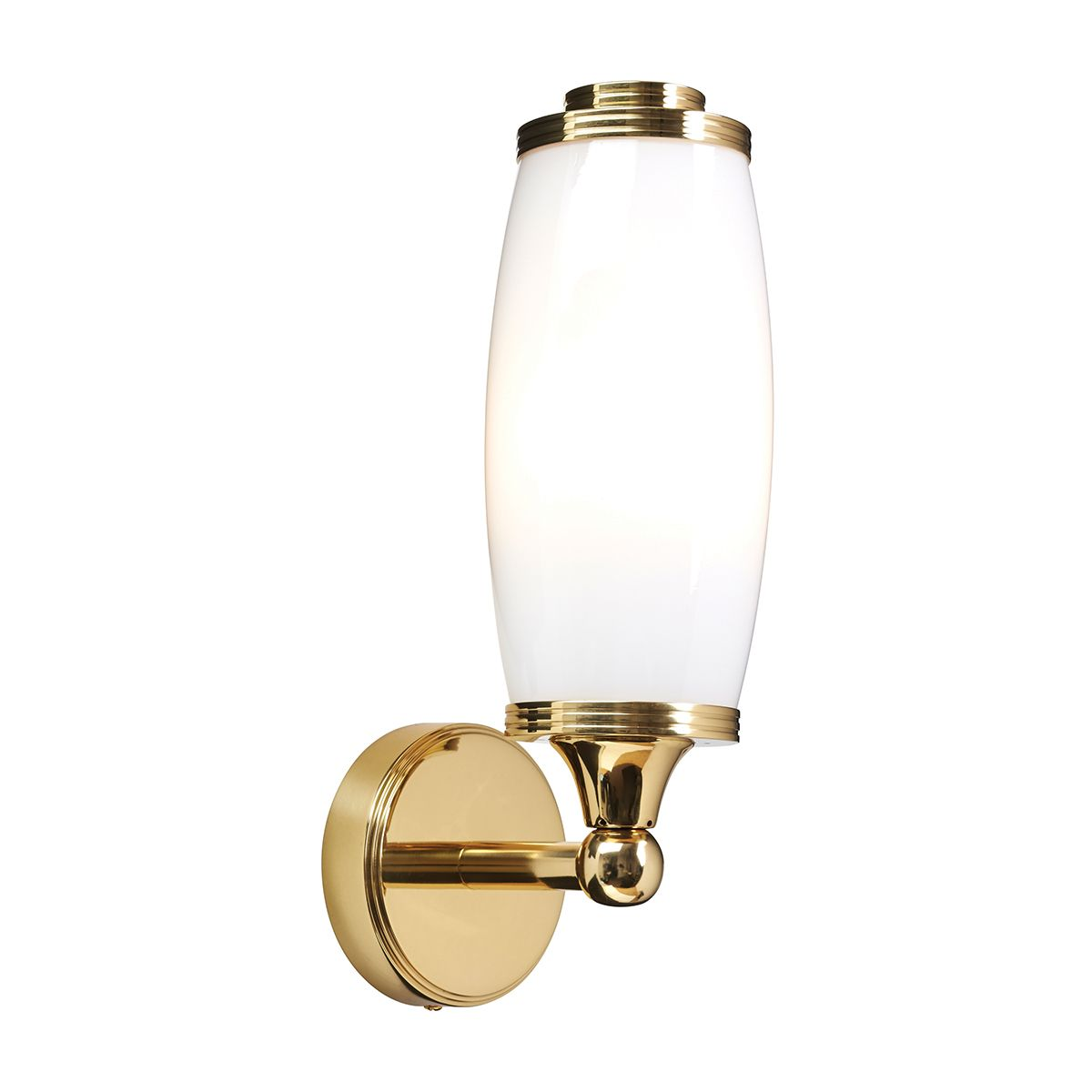 eliot 1 solid brass single bathroom wall light in a