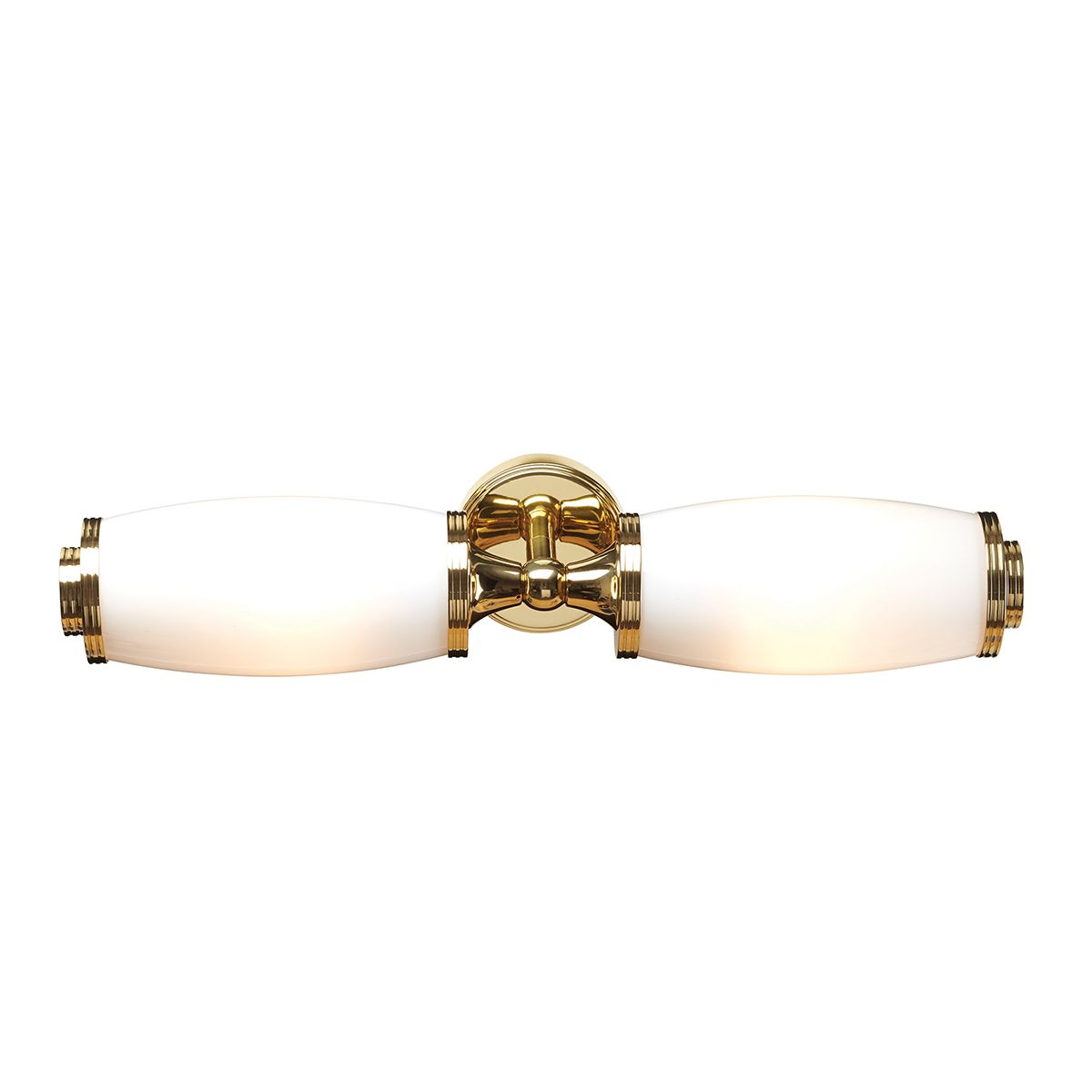 Eliot 2 double brass single bathroom mirror wall light in for Bathroom light fixtures brass finish