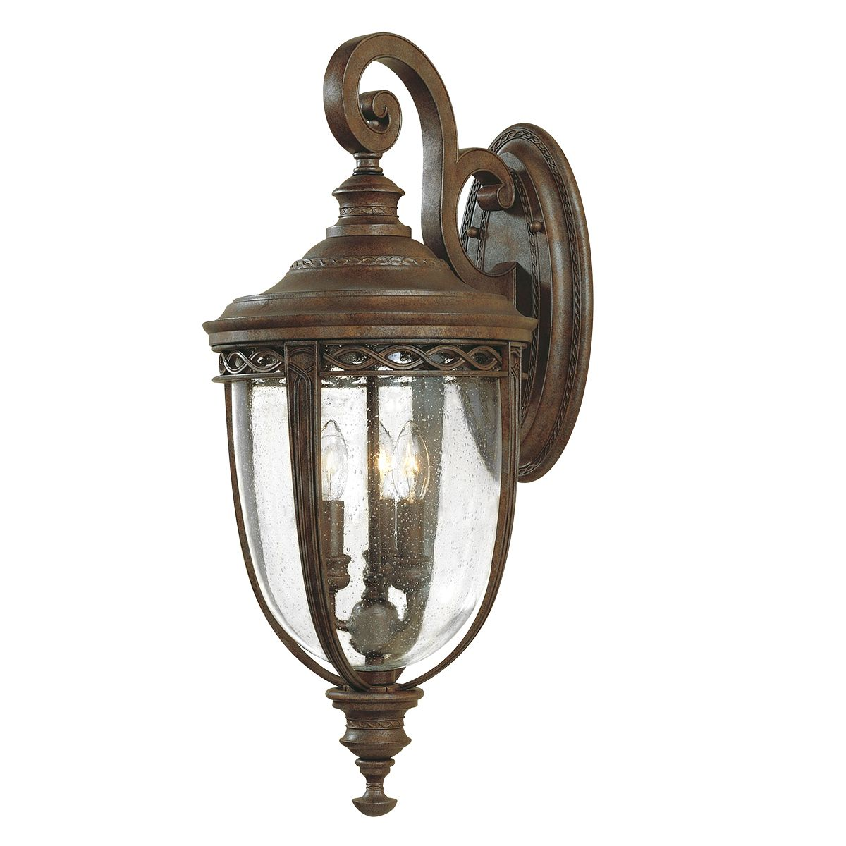 English Bridle Large Outdoor Wall Lantern In A Bronze