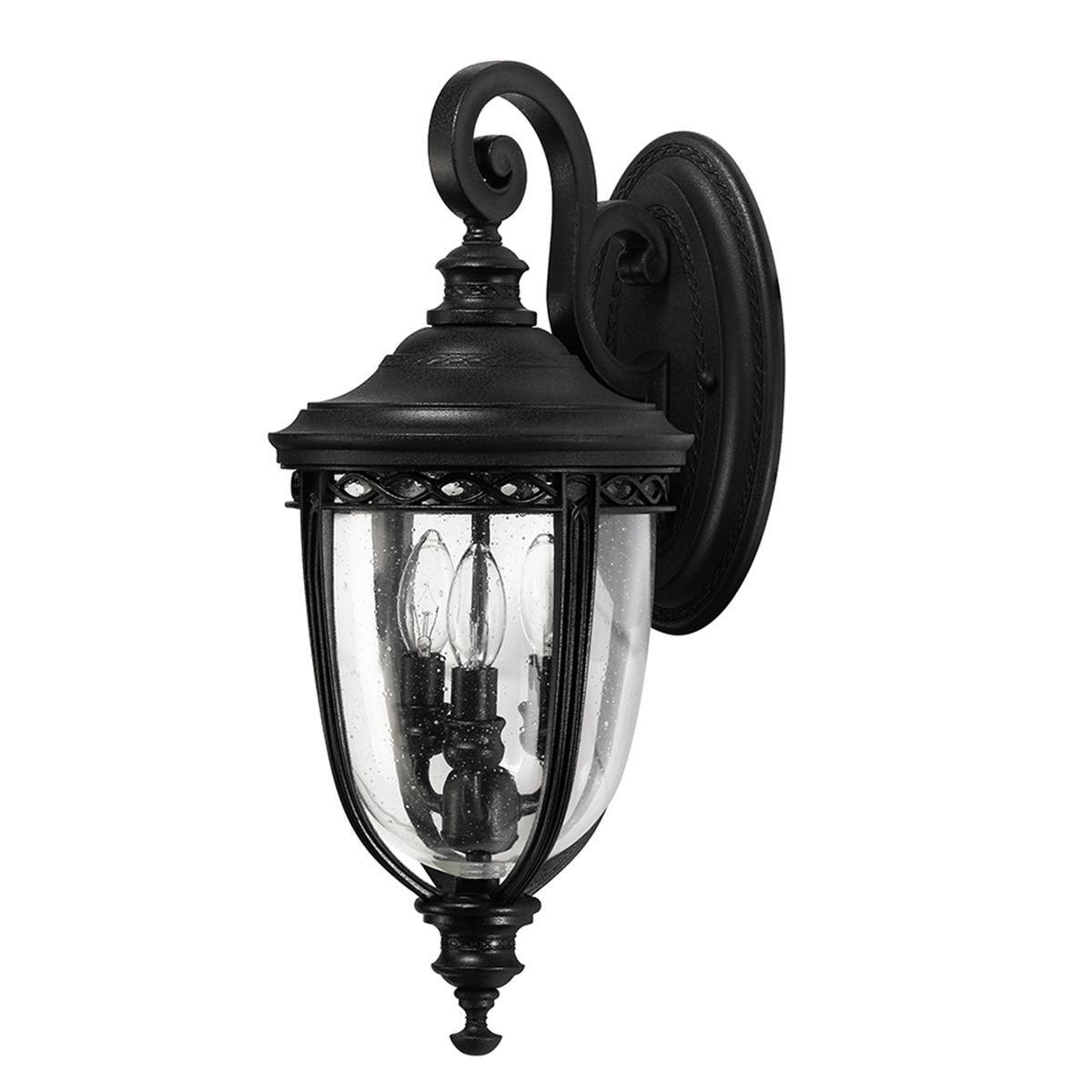Feiss English Bridle Medium Pedestal Lantern Light Black: English Bridle Medium Outdoor Wall Lantern In A Black