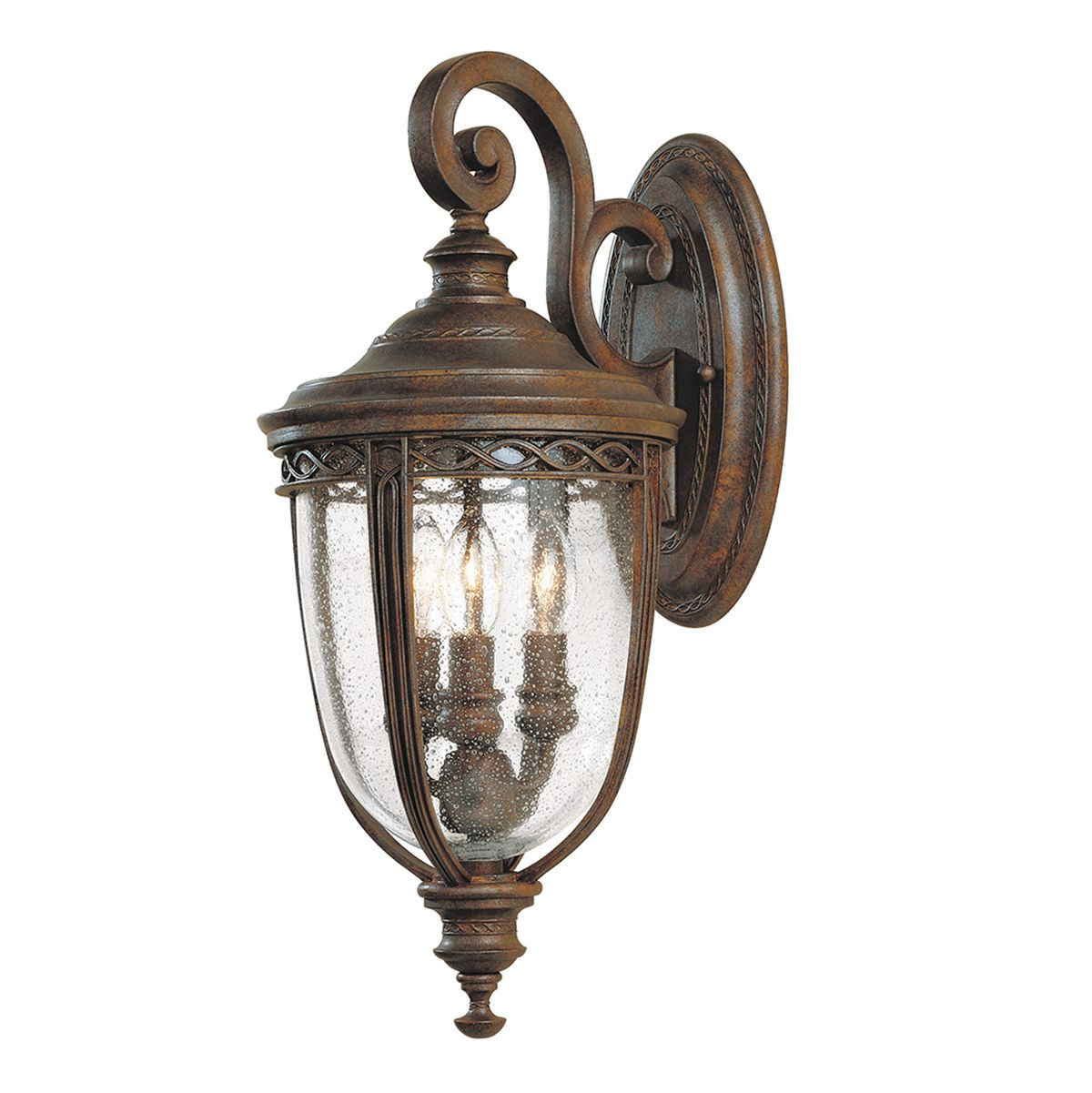 Feiss English Bridle Medium Pedestal Lantern Light Black: English Bridle Medium Outdoor Wall Lantern In A Bronze