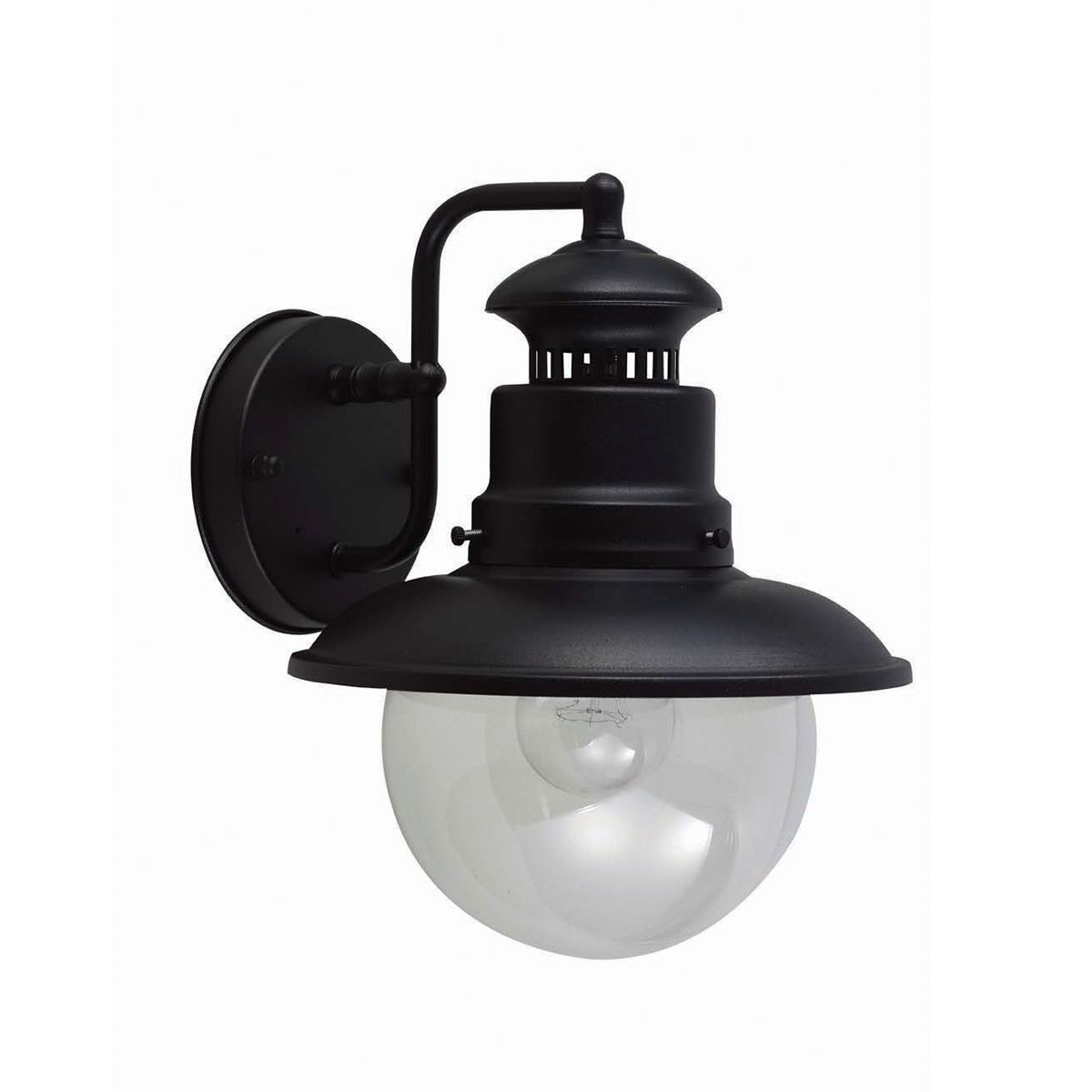 Shipston outdoor wall lantern in a black finish ip44 for Norme ip44 exterieur