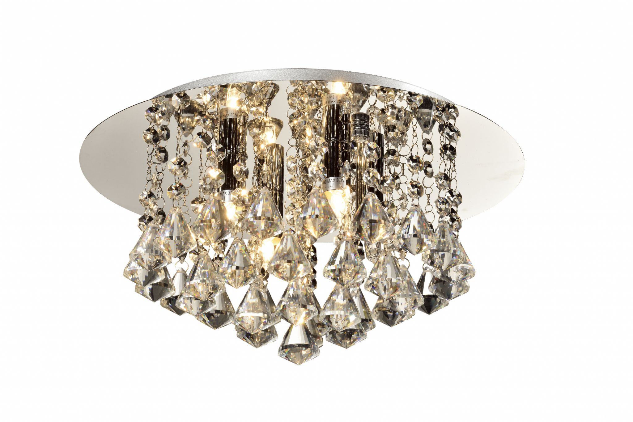 Chloe 4 Light Flush Fitting In Polished Chrome With