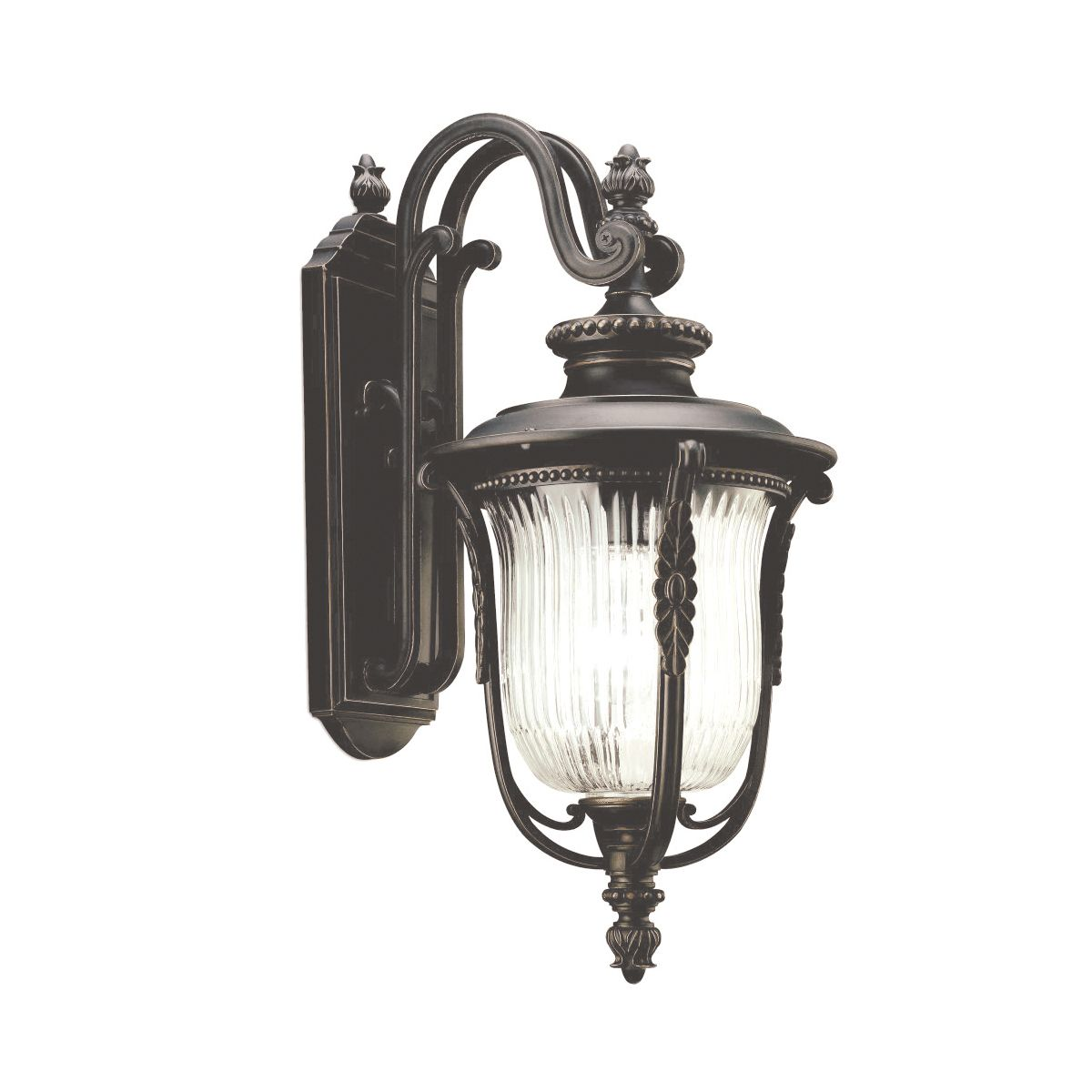 Luverne Medium Outdoor Wall Lantern In A Bronze Finish