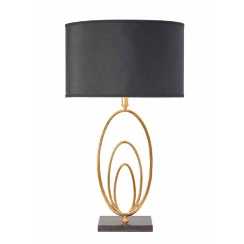 Vilana Antique Gold Table Lamp Complete With A Black
